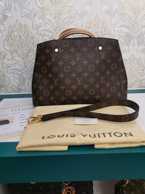 Unused LV Louis Vuitton Montaigne MM Monogram Canvas