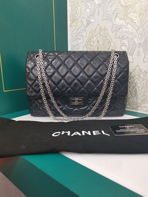 #12 Chanel 2.55 227 Navy aged Calf with SHW