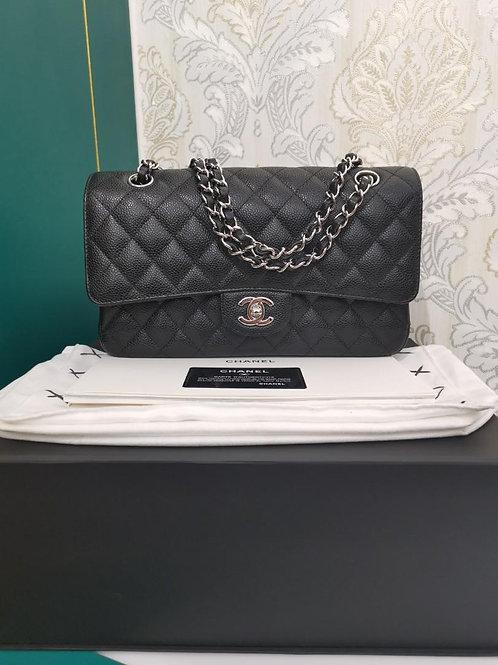 #26 LNIB Chanel Medium Classic Flap Black Caviar SHW