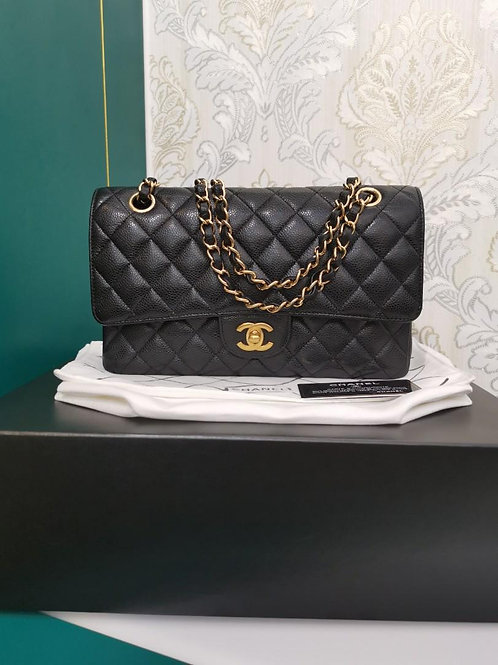 #17 Chanel Medium Classic Double Flap Black Caviar with GHW