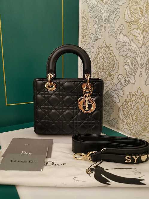 Almost New My ABCDior Lady Dior Small Lamb with Light GHW