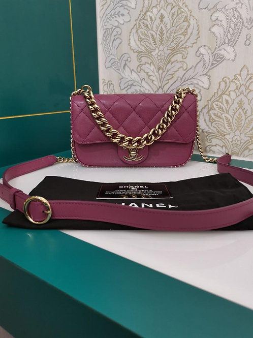 #24 Like New Chanel Mini Classic Flap Caviar with light GHW