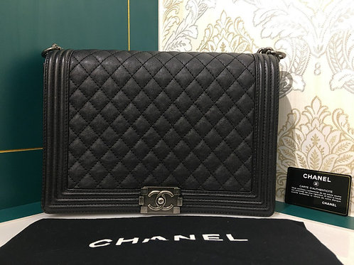 Brand New Chanel Boy Large Caviar Black with RHW