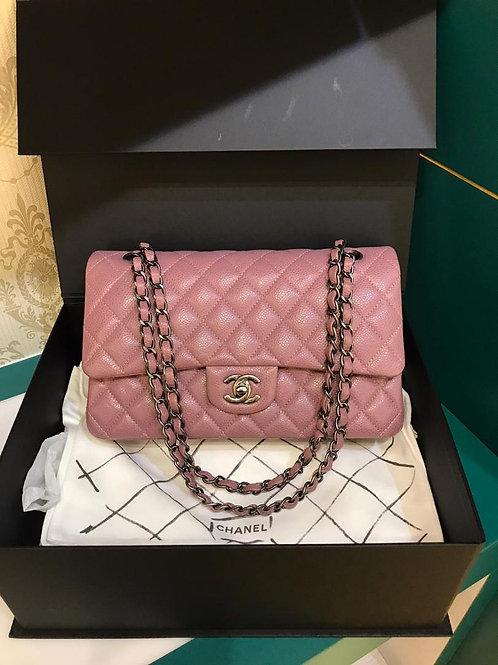#21 LNIB Chanel Classic Double Flap Medium Pink Caviar RHW