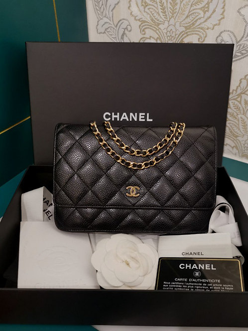#19 LNIB Chanel WOC Caviar Black with GHW