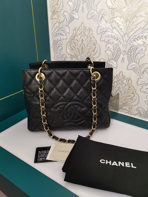 Chanel PTT Petite Timeless Tote Caviar Black with GHW