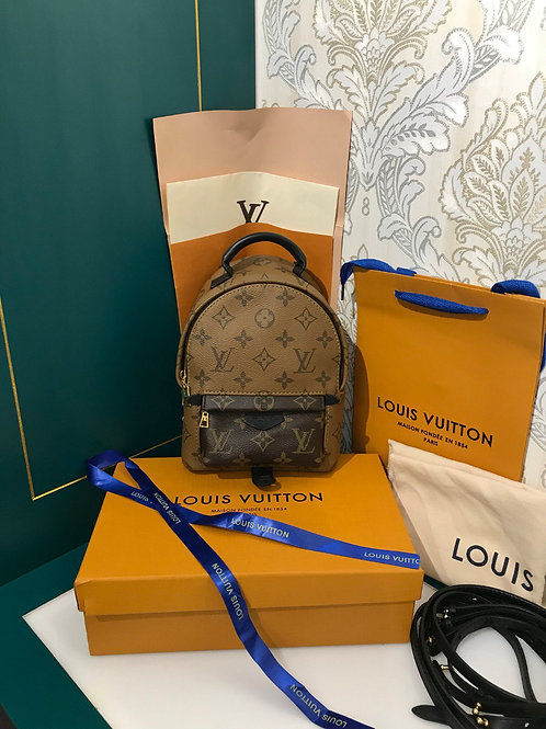 Brand New Lv Louis Vuitton palm springs mini backpack reverse monogram