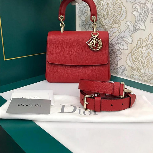Excellent Dior Be Dior Mini Red Grained Calf GHW