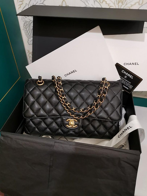#26 BNIB Chanel Classic Double Flap Black Cavair with GHW