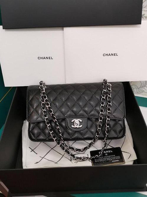 #27 BNIB Chanel Medium Classic Double Flap Black Caviar with SHW