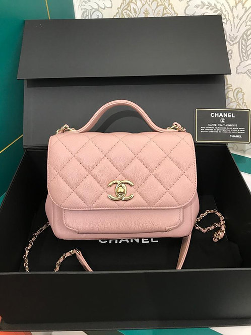 #25 LNIB Chanel Affinity Business Flap Nude Pink Caviar Light GHW