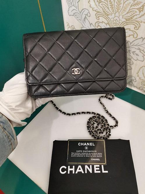 #20 Chanel woc Black Lamb SHW