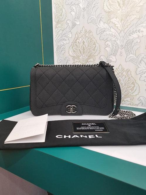 #23 Chanel Turn Around Bag Medium Black Washed Caviar RHW