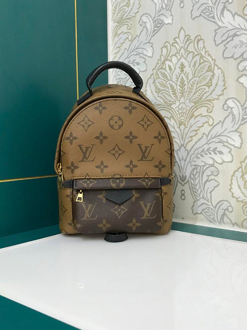 Like New Lv Louis Vuitton palm springs mini backpack reverse monogram