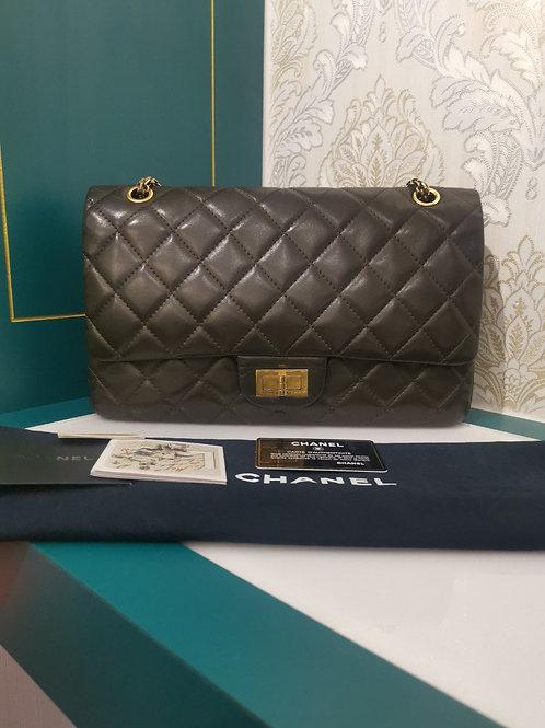 Chanel 2.55 Reissue 227 Olive Dark Lambskin with GHW