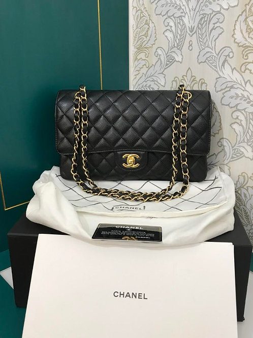 #21 BNIB Chanel Calssic Double Flap Black Caviar with GHW
