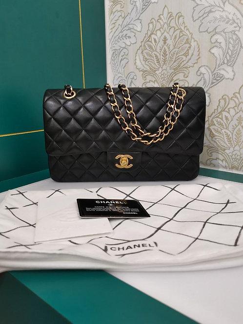 #15 Like New Chanel Medium Classic Double Flap Blk Lamb GHW