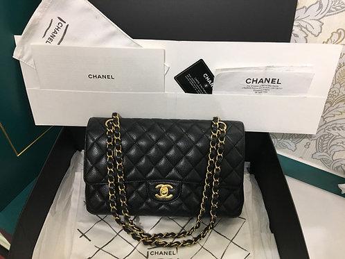 #20 LNIB Chanel Classic Double Flap Black Caviar with GHW