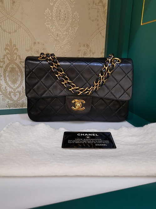 #3 Chanel Vintage Classic Double Flap Black Small Lamb GHW