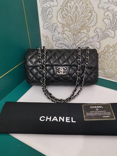 #12 Chanel East West Flap Black Lamb SHW