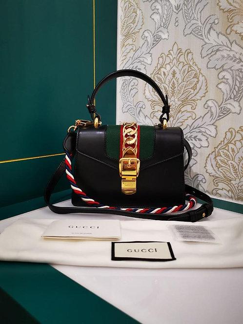 Gucci Sylvie mini Calf Black cross-body bag
