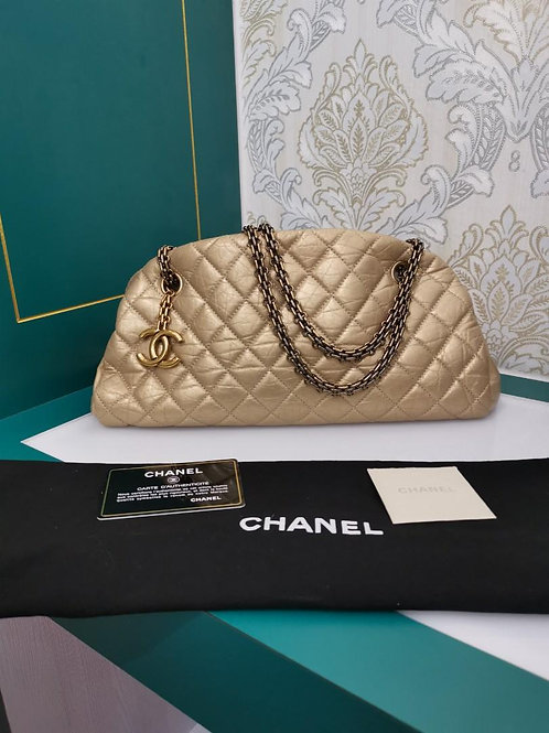 #15 Chanel Mademoiselle Bag Gold Distressed Calf aged GHW