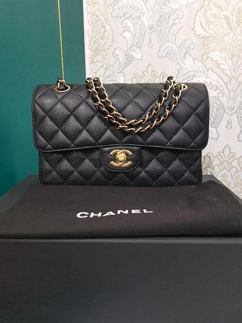 #13 LNIB Chanel Small Classic Double Flap Black Caviar with GHW