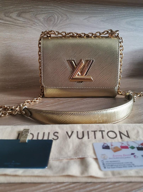 Like New LV Twist PM Gold Epi with GHW