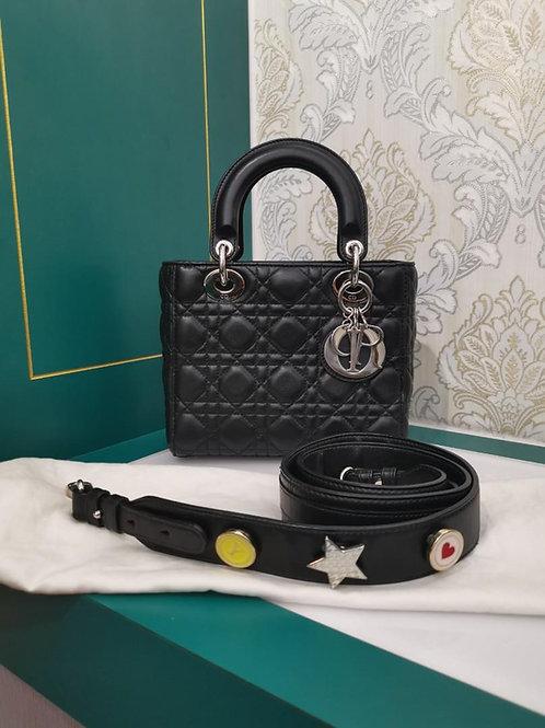 Excellent Lady Dior Small My ABCDior Bag Black Lamb SHW