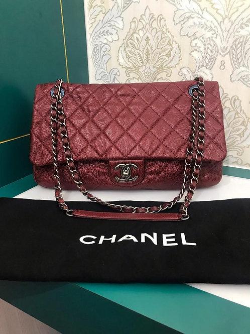 #17 Chanel Easy Flap Jumbo Red Caviar SHW (Cash S$3,250)