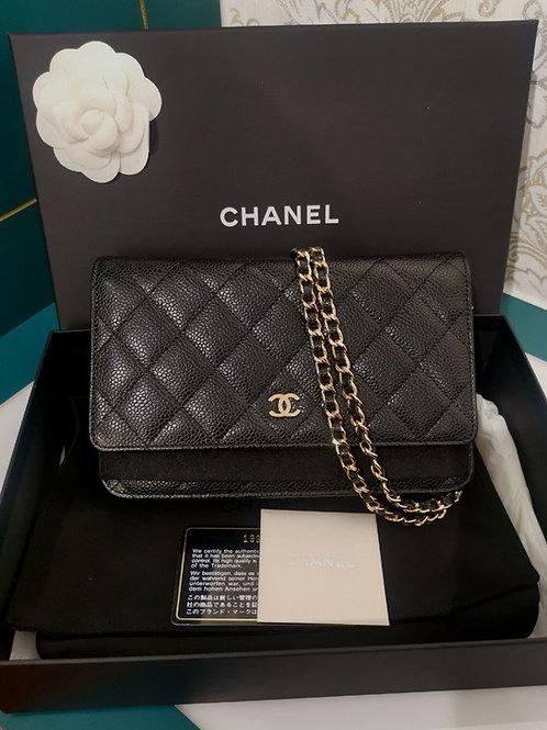 BNIB Chanel WOC Black Caviar with GHW