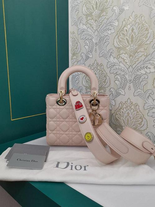 Like New Lady Dior My ABCDior powder Pink Lamb Light GHW