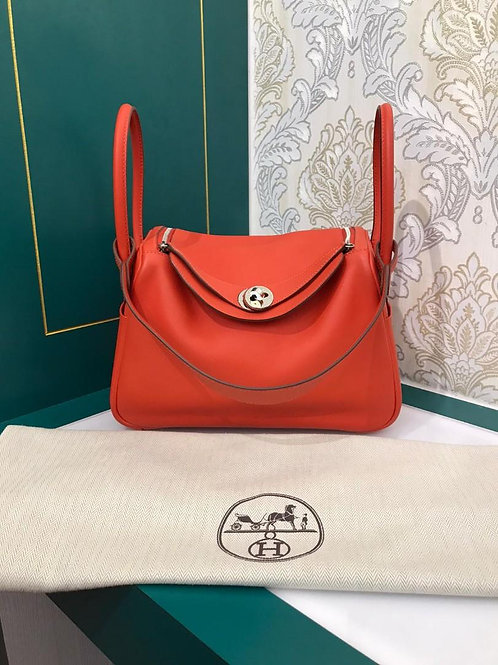 Like New Hermes Lindy 26 Capucine Swift PHW