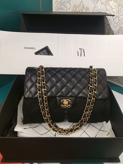 #23 BNIB Chanel Medium Classic Double Flap Black Lambskin with GHW