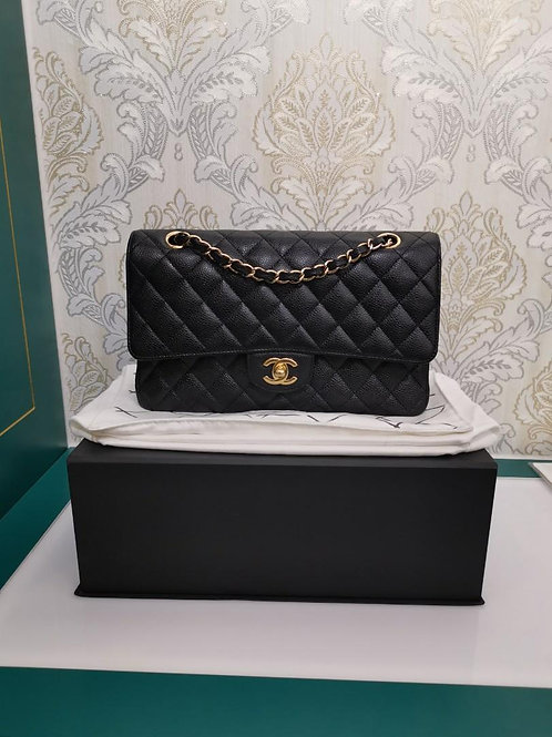 #17 LNIB Chanel Medium Classic Double Flap Black Cavair with GHW