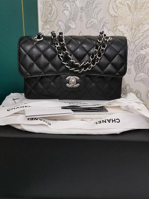 #27 BNIB Chanel Small Classic Double Flap Black Caviar with SHW