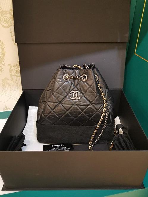 #26 LNIB Chanel Gabrielle Backpack Small Black Distressed Calf (Cash S$5,580)