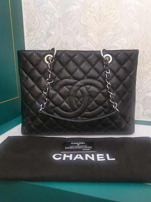 #18 Like New Chanel GST Black Caviar with SHW