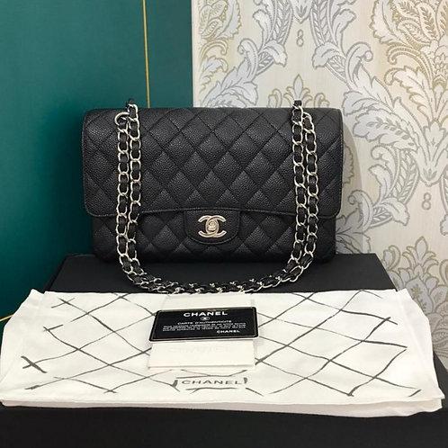 #15 LNIB Chanel Classic Double Flap Black Caviar with SHW