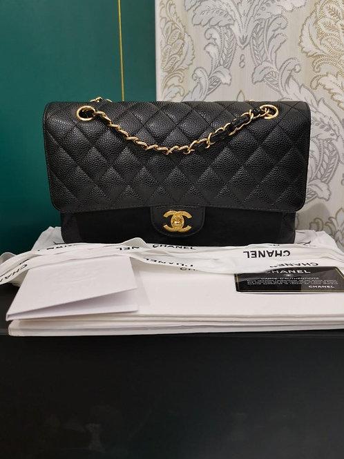 #24 BNIB Chanel Classic Medium Double Flap Black Caviar with GHW