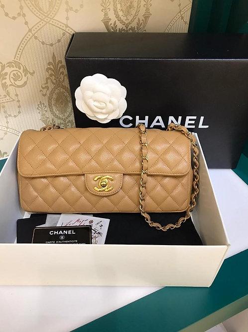 #11 LNIB Chanel East West Flap Dark Beige Caviar 24K GHW