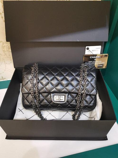 #28 LNIB Chanel Reissue 2.55 225 Black Aged Calf RHW (Cash S$7,800)