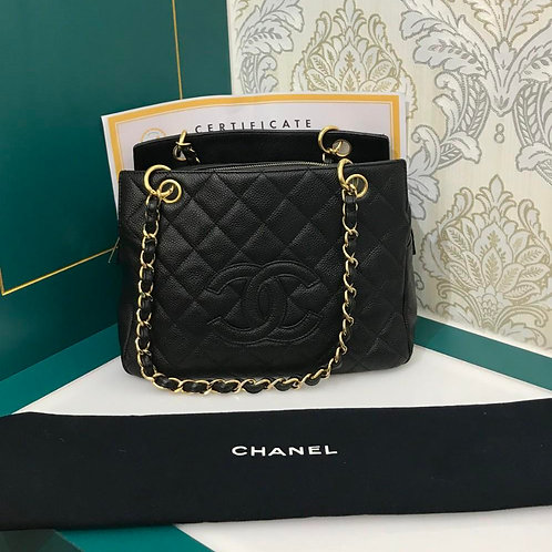 Chanel PTT Black Caviar with GHW