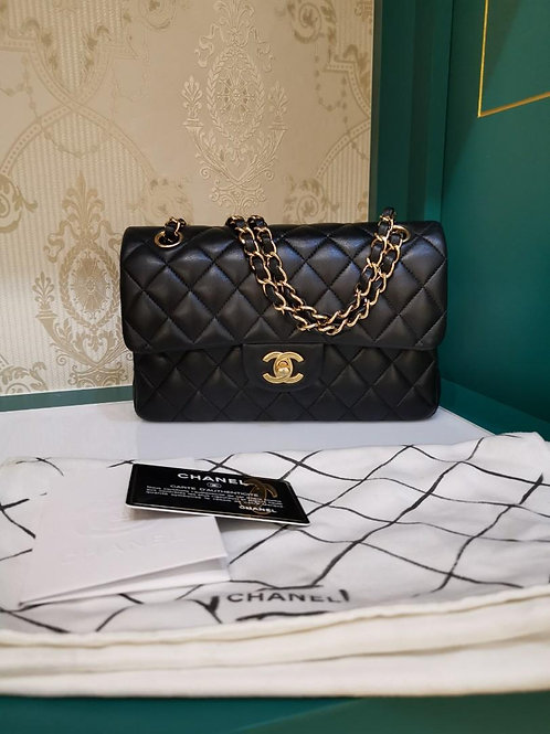 #18 Excellent Chanel Classic Double Flap Small Lamb GHW