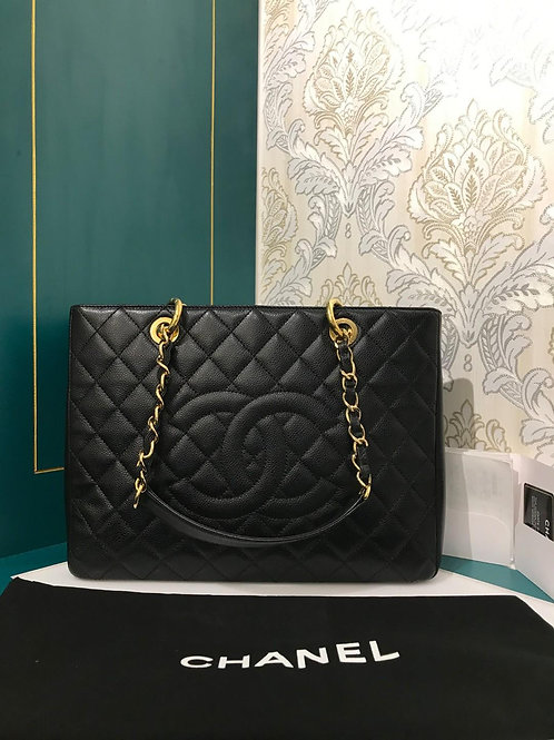 #19 Like New Chanel GST Black Caviar with GHW