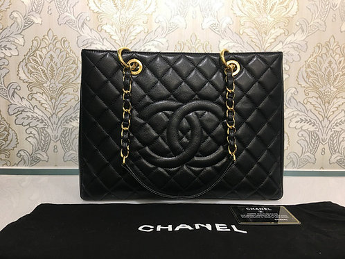 Almost New Chanel GST Black Caviar with GHW