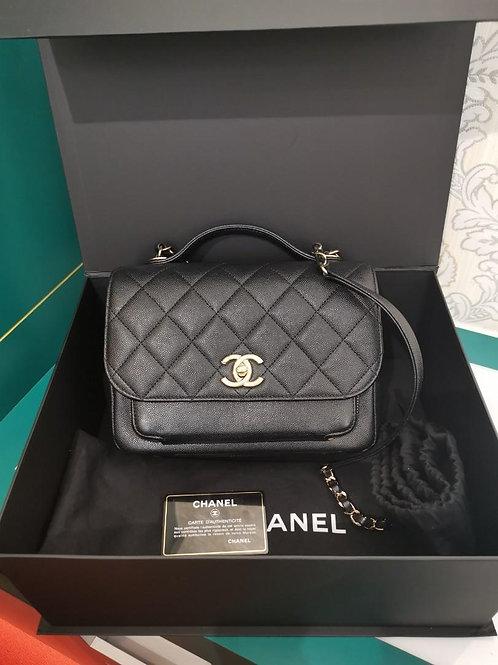 #25 LNIB Chanel Business Affinity Flap Medium Caviar Black light GHW