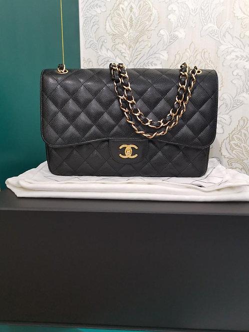 #19 LNIB Chanel Jumbo Classic Double Flap Black Caviar GHW