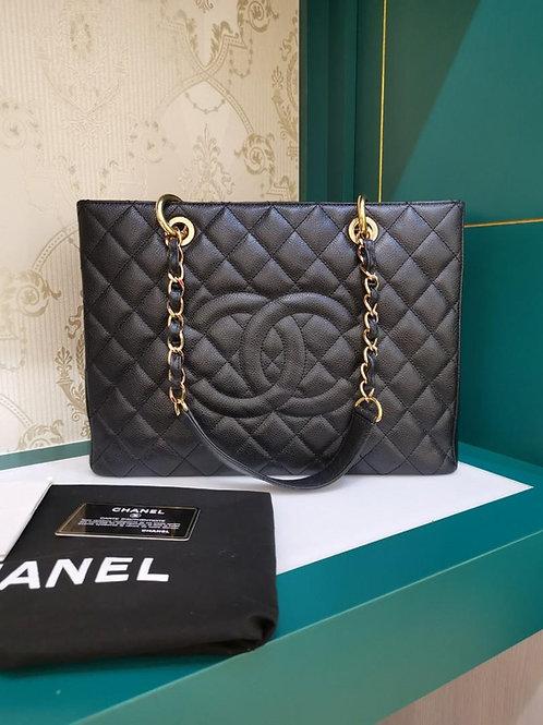 #16 Like New Chanel GST Black Caviar GHW
