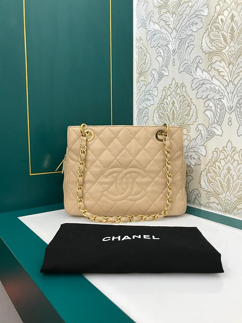 #15 Chanel PTT Beige Caviar with GHW